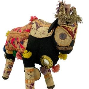 Antique Embroidered Ceremonial Hindu Brahma Bull